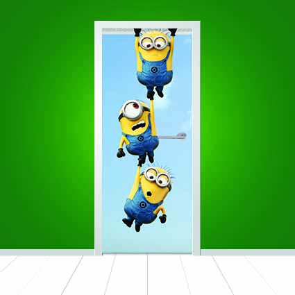 Minions Design  1 U2013 Giant Door Sticker